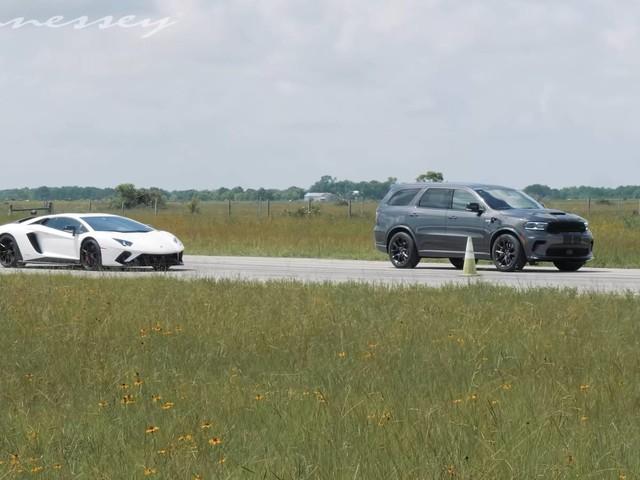 Watch a Family Hauler Obliterate a V-12 Lamborghini Aventador