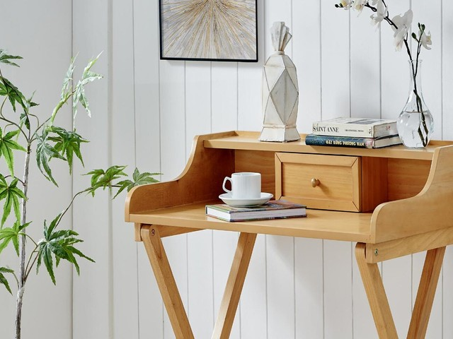 13 Genius Desks You Can Fold Up & Tuck Away (When You're Off The WFH Clock)