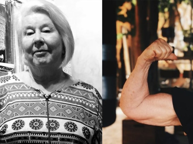 Grandma, 73, shows off unbelievable weight loss photos, becomes viral sensation