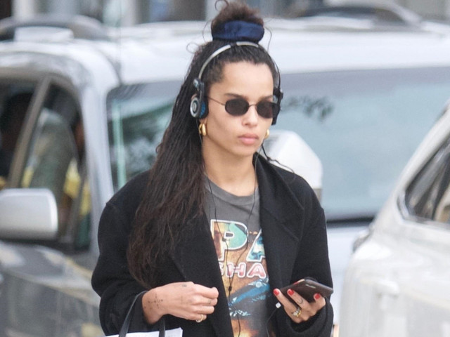 Zoe Kravitz Jams to Music While Shopping in Beverly Hills