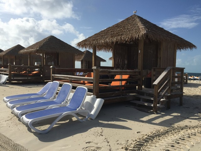 Spotted: Waterfront cabanas at CocoCay