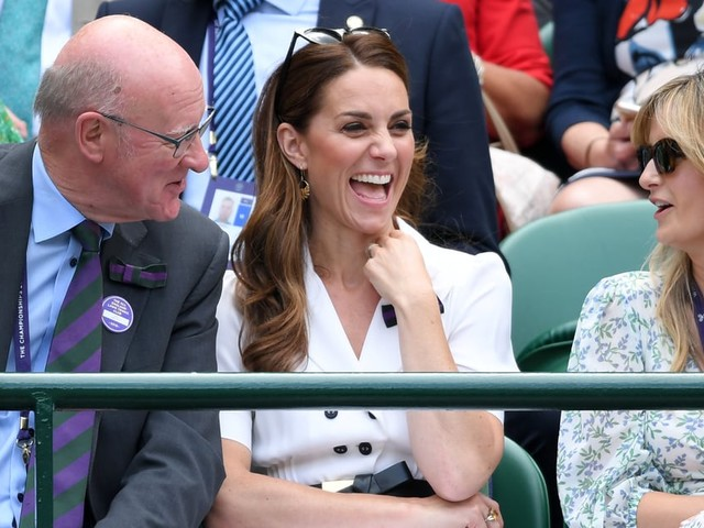 Kate Middleton Looked Like She Was Having the Time of Her Life at Wimbledon