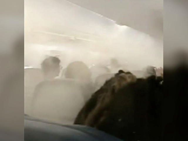 New York-bound Delta flight fills with thick mist before takeoff