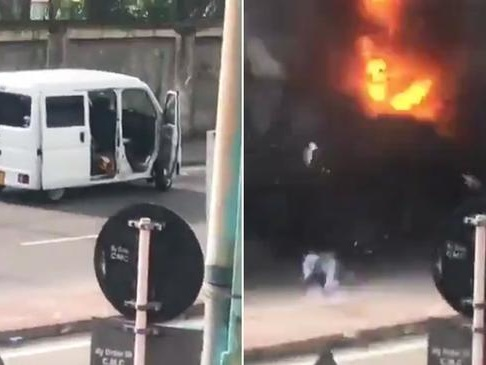 Watch: Massive Blast Near Sri Lanka Church As Bomb Squad Tried To Defuse Parked Van