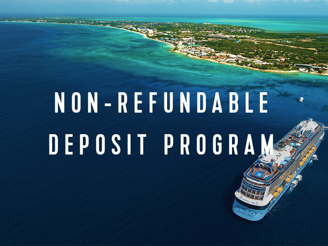 Royal Caribbean non-refundable deposit program roll out details