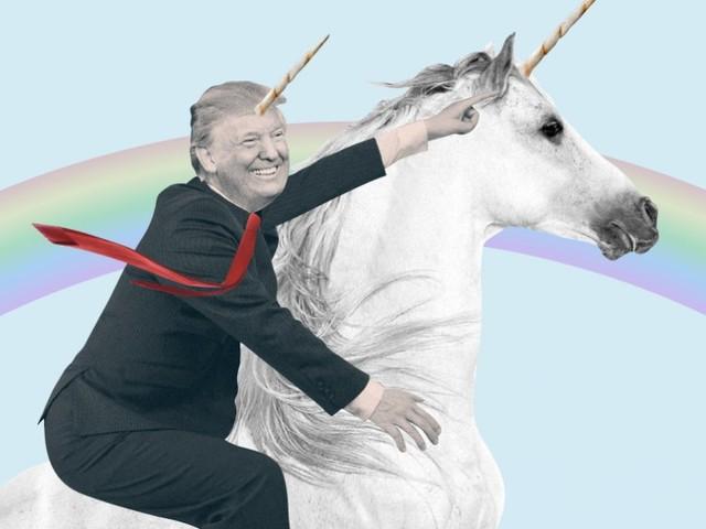 Sean Spicer's new book praises Trump as a 'unicorn riding a unicorn across a rainbow'