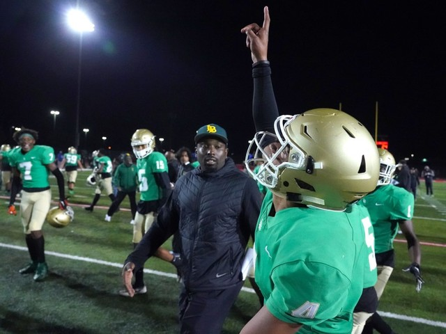Long Beach Poly football digs deep for OT victory over Orange Lutheran