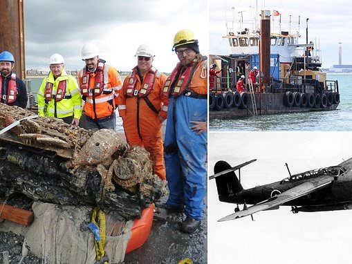 Fairey Barracuda sea plane that crashed into Solent in 1943 batteries still work