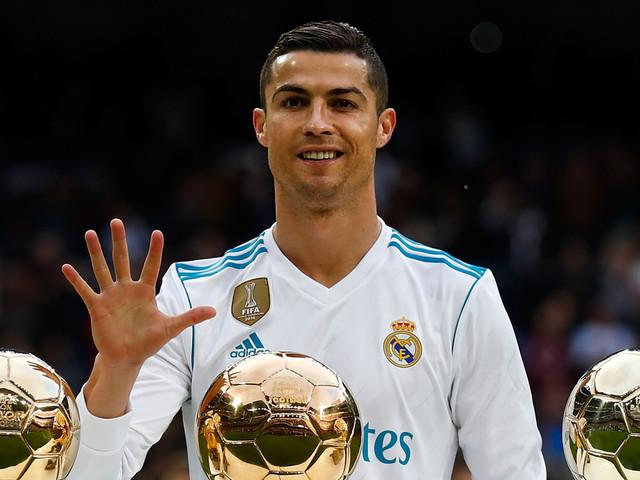 Cristiano Ronaldo Celebrates 5th Ballon d'Or Award Win with Son Cristiano Jr!