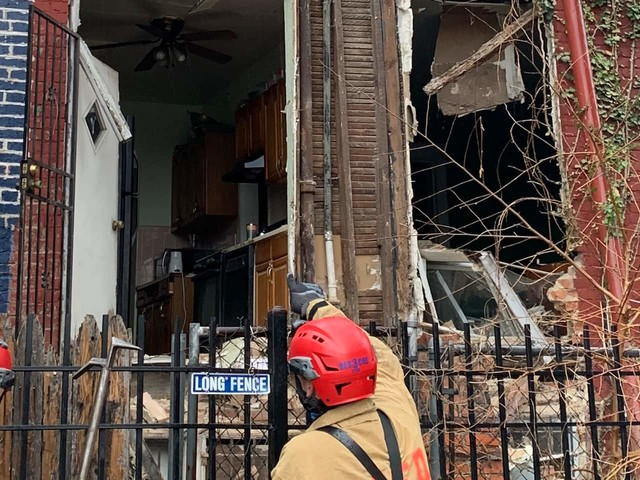 Rear wall of D.C. home collapses; no injuries reported