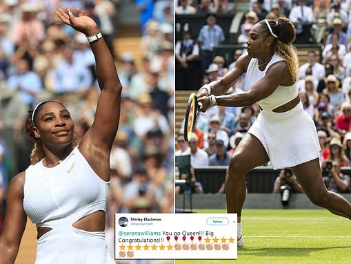 Serena Williams lauded by fans as she moves step closer to EIGHTH Wimbledon title