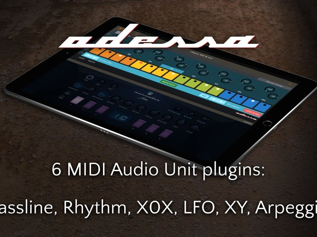 Bram Bos brings us Odessa Sequencer Suite, possibly the first MIDI AUv3 released for iOS