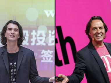 Sprint, T-Mobile Shares Slump On Reports CEO Legere In Talks To Run WeWork