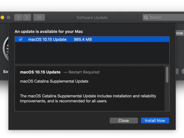 Apple releases macOS Catalina Supplemental Update
