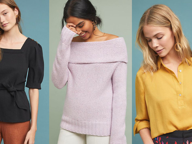 Add Some New Anthropologie Tops and Sweaters to Your Wardrobe With 20% Off