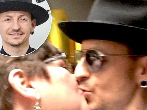 Chester Bennington's mom marks two years since his death by suicide with picture them sharing a kiss