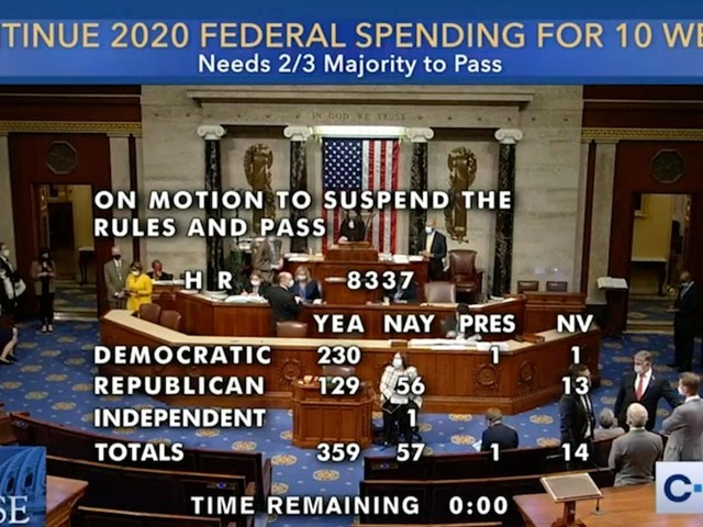 House overwhelmingly passes bipartisan spending deal to avert government shutdown