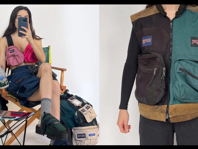 Upcycling designer Nicole McLaughlin creates a collection with JanSport