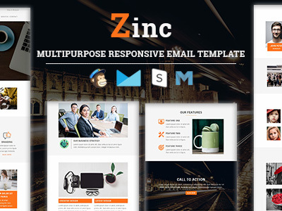 Zinc - Multipurpose Responsive Email Template (Newsletters)
