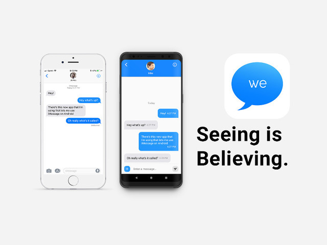 weMessage is an iMessage for Android with too many catches