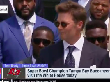 Tom Brady made a joke about Donald Trump during the Buccaneers White House visit