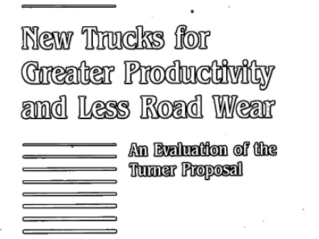 New Trucks for Greater Productivity and Less Road Wear: An Evaluation of the Turner Proposal: An Evaluation of the Turner Proposal -- Special Report 227