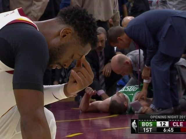 Gordon Hayward suffered a gruesome broken ankle just minutes into his first game with the Celtics
