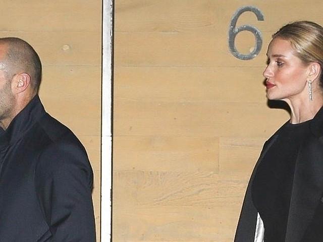 Jason Statham & Rosie Huntington-Whiteley Enjoy a Romantic Valentine's Day Dinner