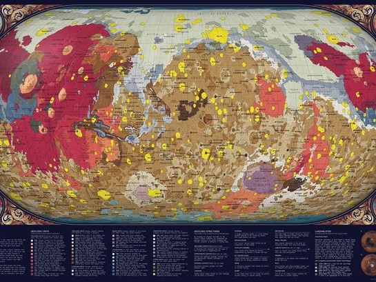 Map Of Mars: The Geology Of The Red Planet