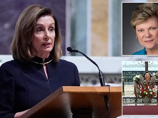 Nancy Pelosi eulogizes 'American icon' Cokie Roberts, 75, as pioneering journalist is remembered