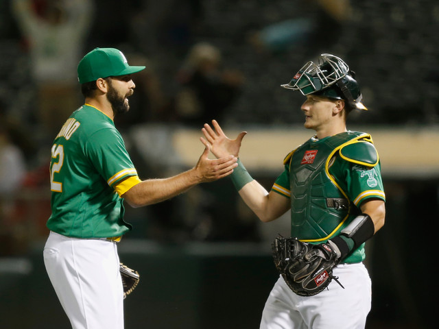 Moreland's 1,000th Hit, Murphy's HR Help A's Down Angels 8-5