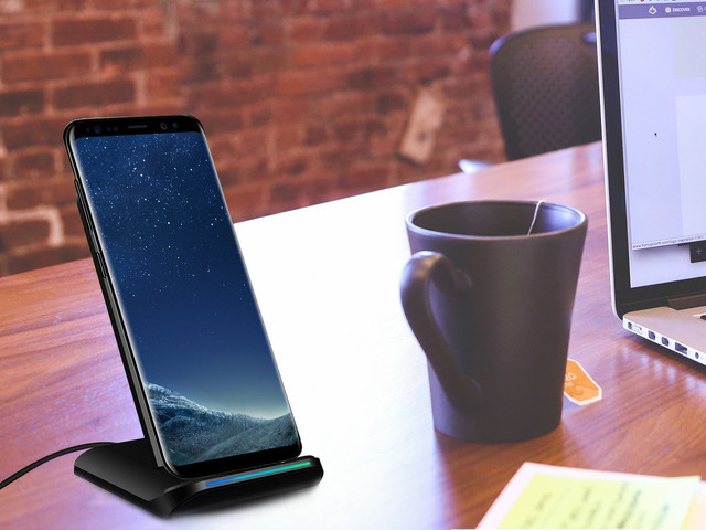 This $22 wireless charging stand works perfectly whether your phone is standing or in landscape