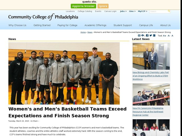 Women's and Men's Basketball Teams Exceed Expectations and Finish Season Strong
