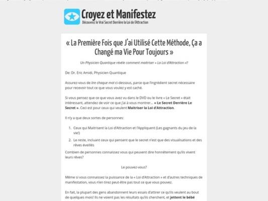 Croyez et Manifestez | Le Secret Derrière Le Secret – Clickbank