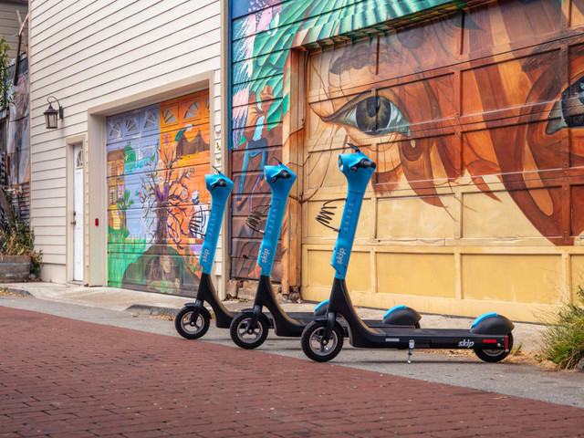 Skip's new scooter has swappable batteries to make it more sustainable