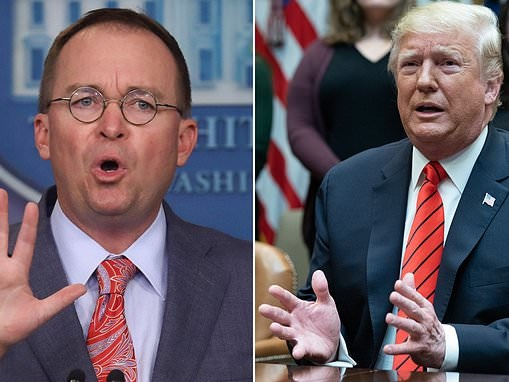 White House's internal effort to push out Mick Mulvaney put on hold as Democrats pursue impeachment