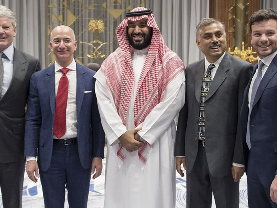 MbS Hacked Bezos After 'Intimate Dinner' During 2018 Goodwill Tour Of The US