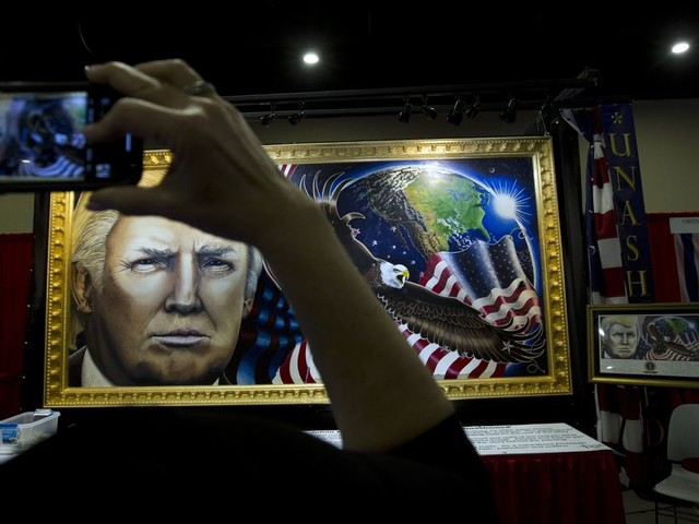 Julian Raven, Trump-inspired artist, fights national gallery to take portrait