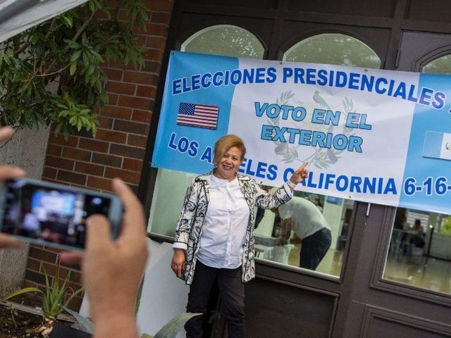 Guatemalans vote in L.A. for their country's presidential election, a historic first
