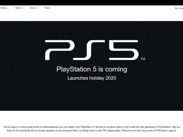 Sony's Upcoming PlayStation 5 Official Website Spotted