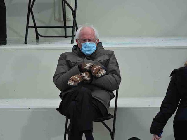 San Francisco public school teacher: Bernie Sanders in mittens at inauguration embodies 'white privilege, male privilege, and class privilege'