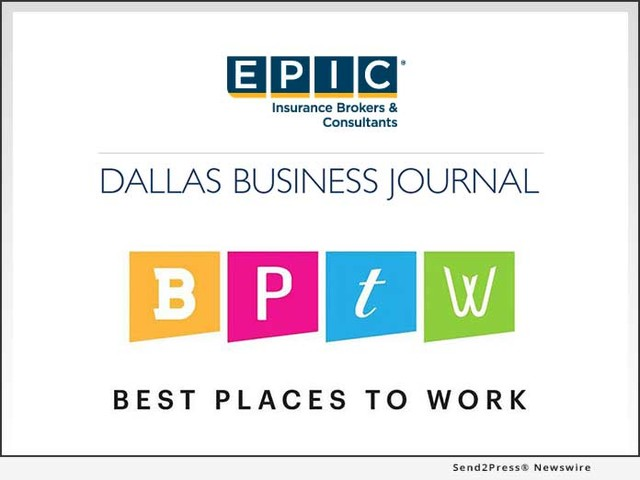 EPIC Insurance Brokers and Consultants Recognized as a 2019 'Best Place to Work' in Dallas