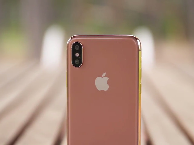 Watch a hands-on video with a model of the new 'copper gold' iPhone 8