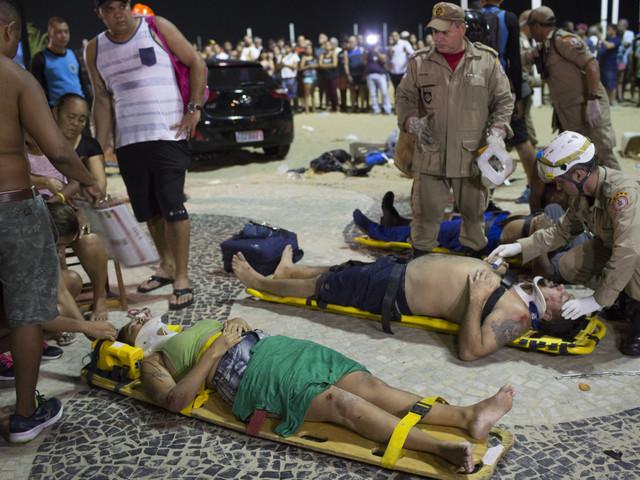 Car plows into crowd on Copacabana Beach