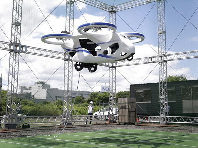 This Just In: Japanese Electric Flying Car Gets Off The Ground…Briefly!
