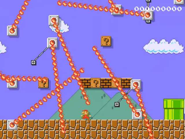 We don't know why people are complaining, our dad could totally beat this Mario Maker level if he wanted to