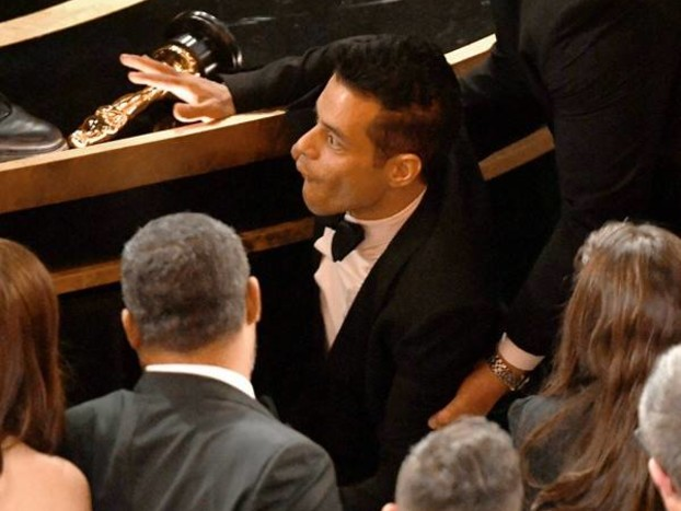 Rami Malek Treated By Paramedics After Falling Off the Stage at 2019 Oscars