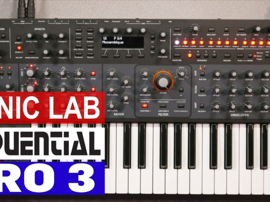 Sonic LAB: Sequential Pro 3 Synthesizer (video)