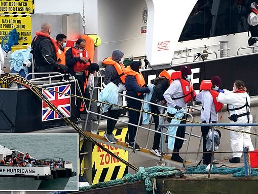 Number of migrants crossing the English Channel in 2021 is nearly DOUBLE the year before