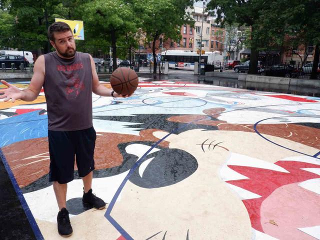 Looney Tunes-themed mural creates hazard on Williamsburg basketball court